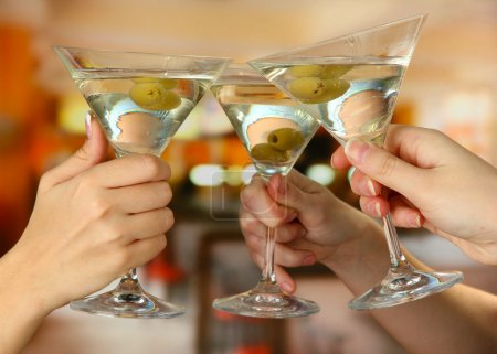 Photo for Corporate party martini glasses - Royalty Free Image