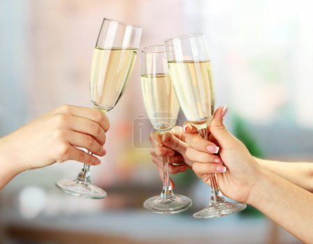 Corporate party sparkling champagne glasses...