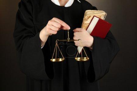 Judge on black background