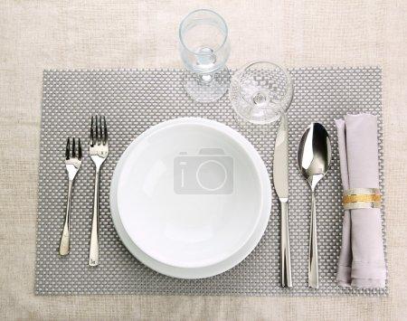 Tischdekoration, Nahaufnahme