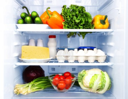 Photo for Refrigerator full of food - Royalty Free Image