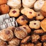Mix of sweet cookies close-u...