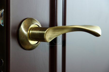 Door handle close-up