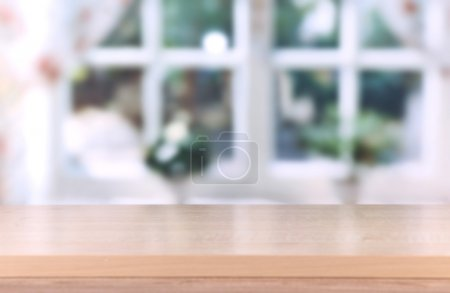 Photo for Wooden table on room background - Royalty Free Image