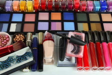 Lot of different cosmetics close-up
