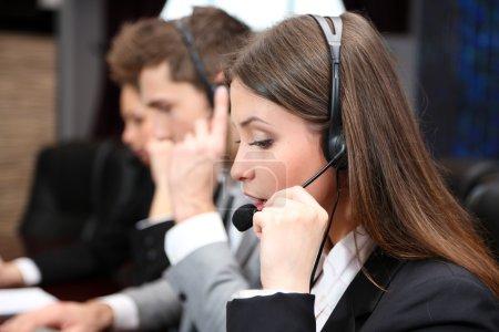 Call center operators at wor