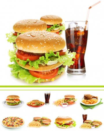 Photo for Collage of fast food - Royalty Free Image