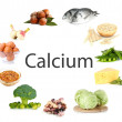 Collage of products containing calcium...
