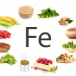 Collage of products containing iron...