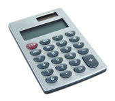 Malé digitální kalkulačka izolovaných na bílém