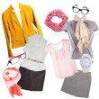 Collage of modern clothes and accessories isolated...