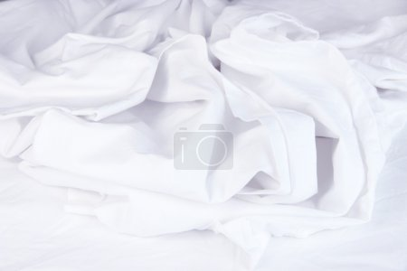 Close up of bedding sheets