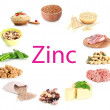 Collage of products containing zinc...