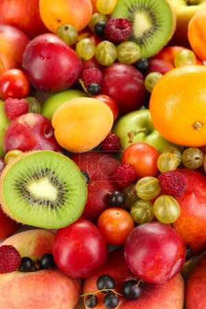 Photo for Assortment of juicy fruits background - Royalty Free Image