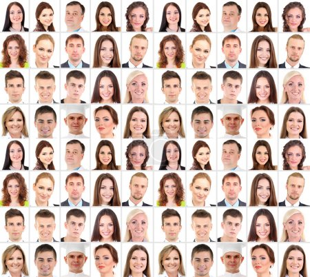 Photo for Collage of many different human faces - Royalty Free Image