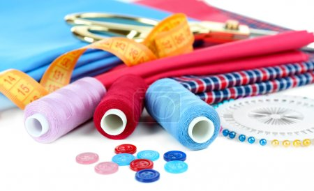 Sewing accessories close up