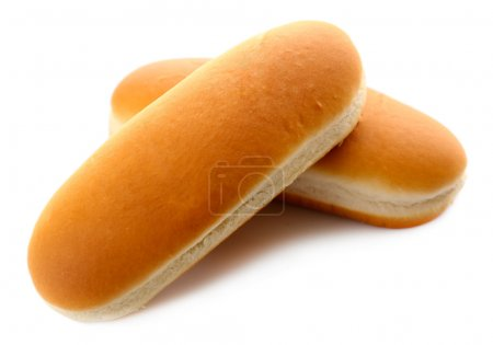 Buns for hot dog isolated on white...
