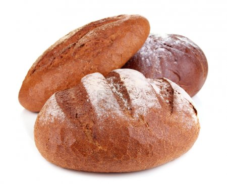 Rye breads isolated on white