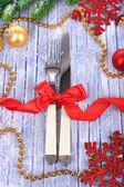 Krásné vánoční nastavení zblízka