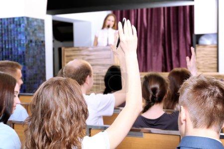 Photo pour Réunion en salle de conférence - image libre de droit