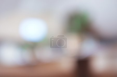 Interior of cafe, blur background