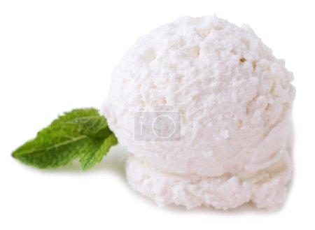Vanilla ice cream balls
