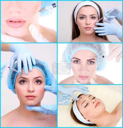 Plastic surgery collage