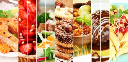 Photo for Collage of delicious food close-up - Royalty Free Image