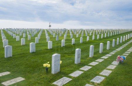 Photo pour Cimetière militaire des États-Unis à Point Loma San Diego, Californie - image libre de droit