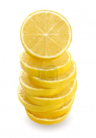 Photo for Lemon sliced and stacked - Royalty Free Image