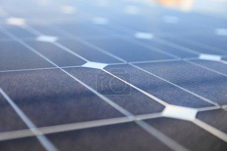 Foto de Paneles fotovoltaicos panel concepto de energía solar - Imagen libre de derechos