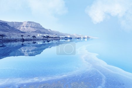 Photo for Resorts of the Dead Sea in Israel in the summer vacation - Royalty Free Image