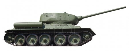 Retro tank T-34, on an isolated