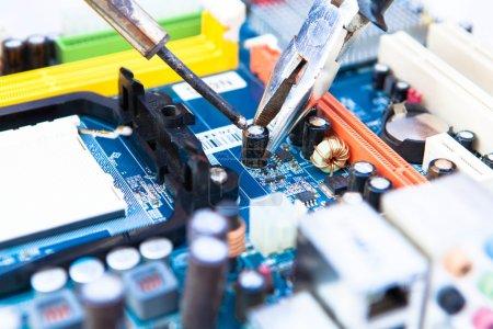 tool for repairing and assembling