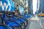 Půjčovny kol na ulicích new Yorku den