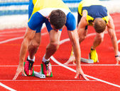 Athletes at the start