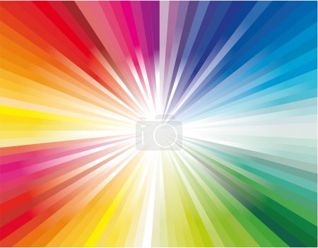 Explosion of rainbow ray lights