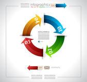 šipka žebříčku infografiky šablona