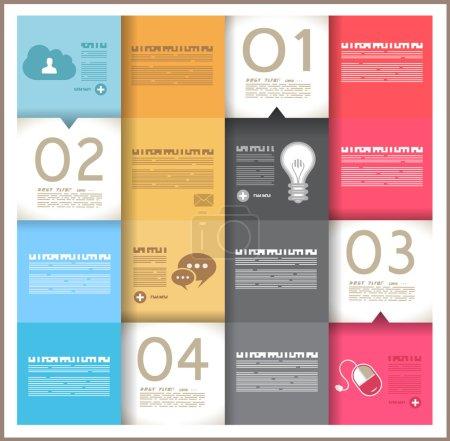 Photo pour Modèle de conception infographique - formes géométriques papier originales avec les ombres. idéal pour afficher des données et des informations avec la style moderne. - image libre de droit