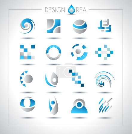 Photo for Set of design elements for your project. Mixed abstract shapes with shadows - Royalty Free Image