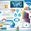 Infographic elements - set of paper tags, technolo...
