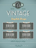 Vintage retro page template for covers