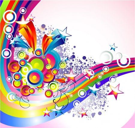 Illustration for Background Mix of abstract colorful elements - Royalty Free Image