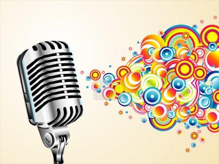 Magic retro microphone