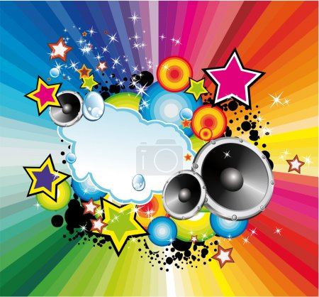 Colorful Lights and Music Background