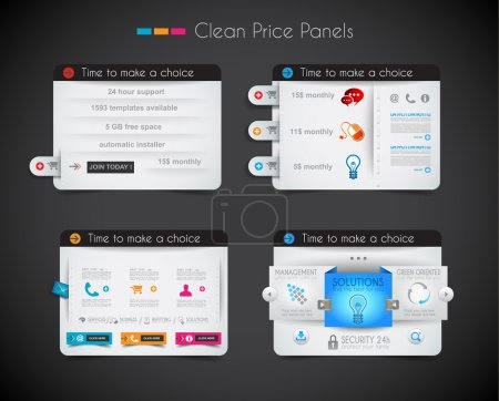 Web price shop panel with space for text and buy now button.