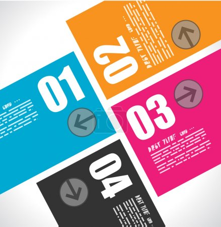 Infographic design template with flat design