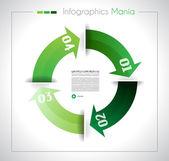 Šablona návrhu Infographic s papírové štítky