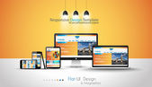 Modern devices mockups for your business projects webtemplates included