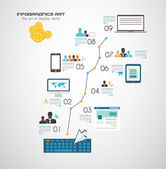 Infographic elements technology icons